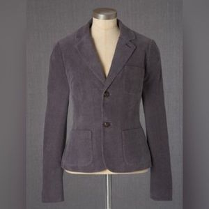 Boden Beauvoir Pewter Gray Corduroy Blazer 4 WE398